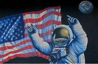 Nasa Astronaut Space Usa Artwork Painting Wallpapers