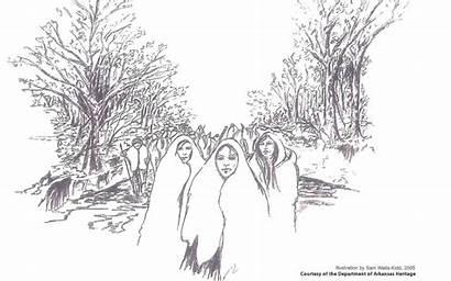 Trail Tears Drawing Ridge Sketch Crowley Arkansas