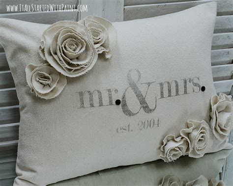 mr and mrs pillows saturday link it all started with paint
