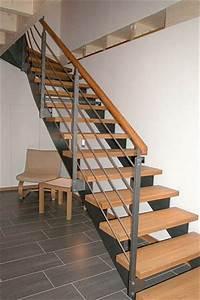 Stahltreppe Mit Holzstufen : stahl holz treppen ihr treppen spezialist ~ Michelbontemps.com Haus und Dekorationen
