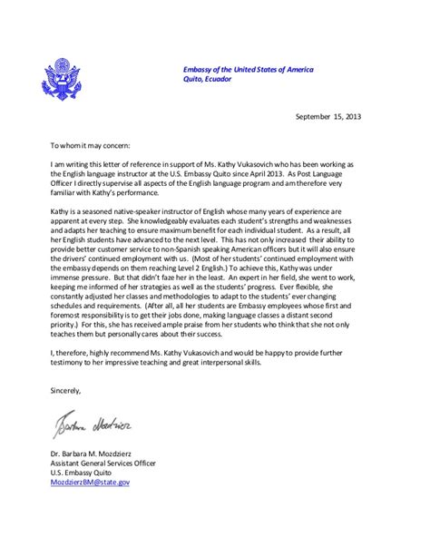 embassy letter  referral