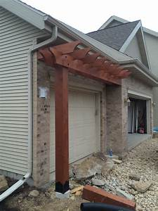 Pergola Over Garage How To Install A Patio Door In Block
