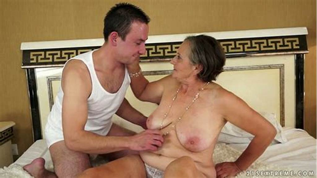 #Young #Dude #Dives #In #Hairy #Pussy #Of #One #Whorish #Granny