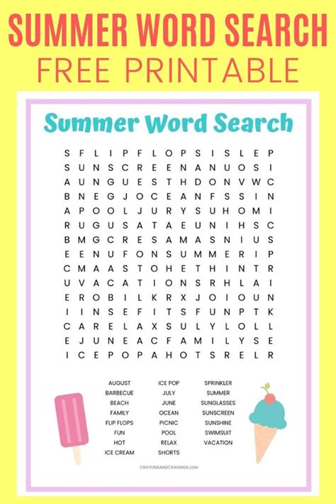 delicious ice cream word search puzzles kittybabylovecom