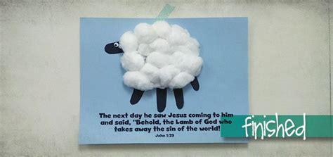 easy easter craft  lamb  god kids ministry