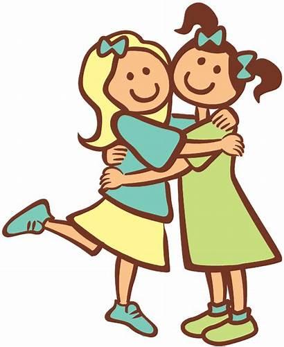 Friends Hugging Clipart Heart Clip Friend Become
