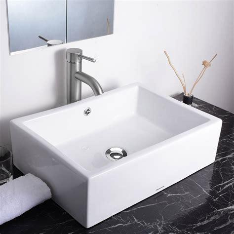 aquaterior porcelain ceramic bathroom vessel sink basin w