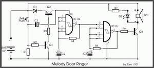 how to build melody door ringer circuit diagram With melody door ringer