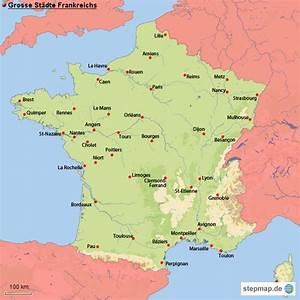Schöne Städte In Frankreich : grosse st dte frankreichs von ringold landkarte f r frankreich ~ Buech-reservation.com Haus und Dekorationen
