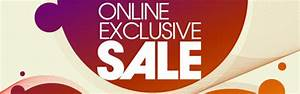 Online Exclusive Sale - Up To 50  Off