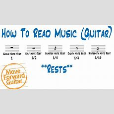 How To Read Music (guitar)  Rests Youtube