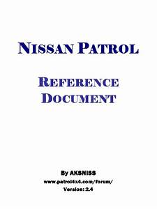 Nissan Patrol Zd30 Y61 Reference Document