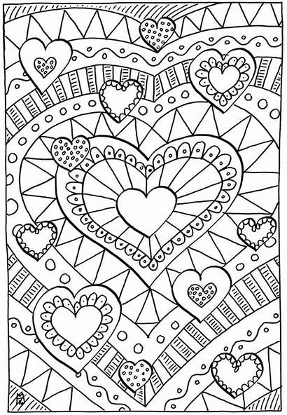 Coloring Valentines Pages Hearts Healing Happiness Homemade