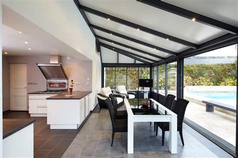 veranda cuisine une surface doublée