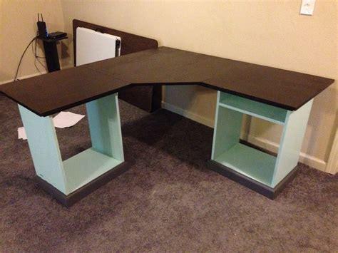 diy wood l white modular office l shaped desk diy projects