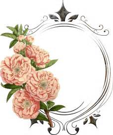 Vintage Transparent Flower Frames