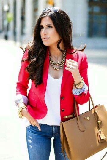Saco rojo | moda fu00e1cil | Pinterest | Blazers White shirts and Nice