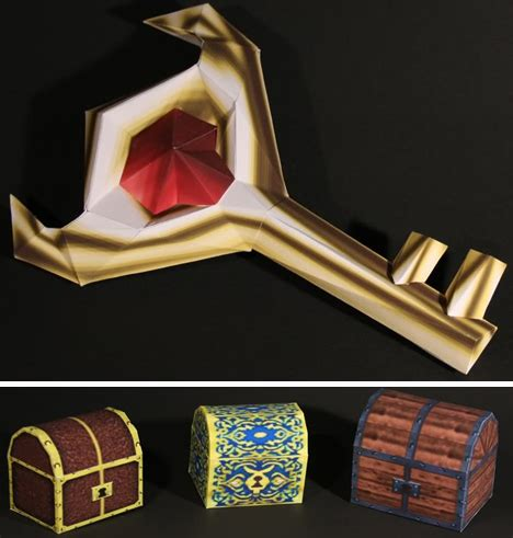 extreme geek gaming art legend  zelda papercraft fun
