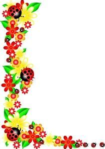 floral border frame background vector   paul