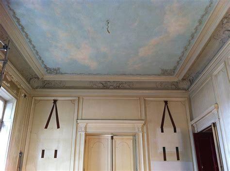trompe l oeil plafond ciel en trompe l œil peinture d 233 corative d 233 cors peints