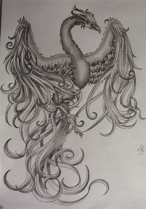 Dessin Phoenix Tatouage