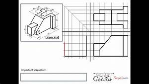 Engineering Drawing Tutorials  Orthographic Drawing 1 With Front View And Slide View  T 5  8