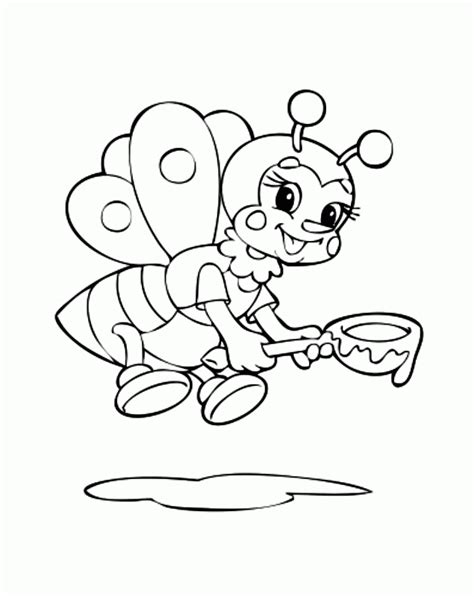 bumble bee template printable coloring home