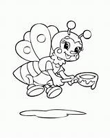 Printable Coloring Bee Bumble Template Pages Bumblebee Animal Popular sketch template