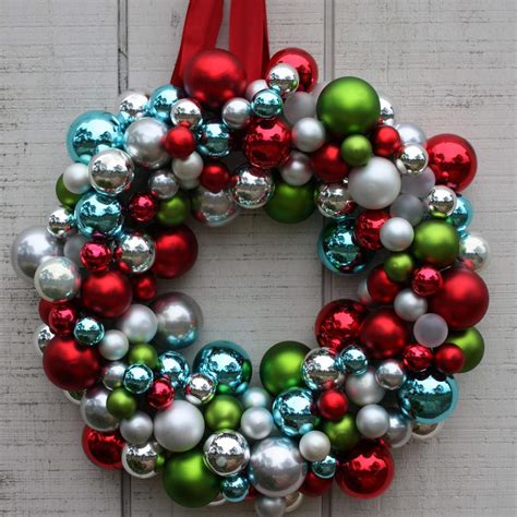 how to make a christmas wreath with ornaments creative