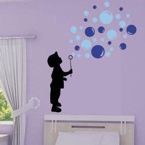 pochoir chambre fille sticker silhouette enfant souffleur de bulles de savon 3