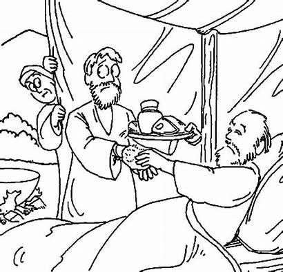 Jacob Esau Isaac Coloring Bring Netart Bible