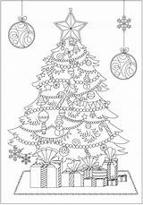 Coloring Christmas Pages Adult Tree Books Club Adults Printable Sheets Thecoloringbook Colouring Holiday Trees Doodle Visit Merry Drawing sketch template