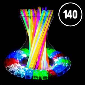 140pk Bulk Glow Sticks And Led Finger Lights  U2013 Usa Toyz