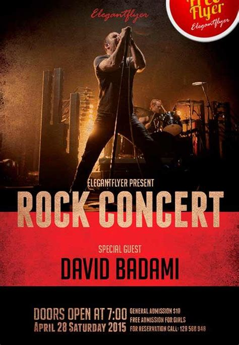 concert poster template 20 free rock events flyers templates utemplates