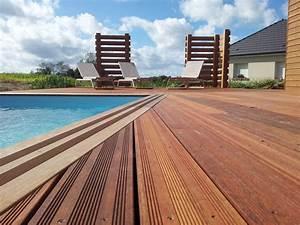 Bois Terrasse Piscine : terrasse avec piscine berneval le grand 76370 djsl bois ~ Melissatoandfro.com Idées de Décoration