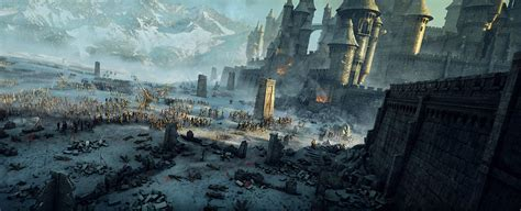 siege city battle wallpaper and background 2237x910 id 437191