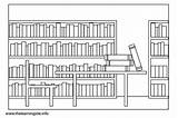 Library Coloring Pages Parts Outline Clipart Week Flashcards National Clip Flashcard Lists Learning Sharepoint Tag Printable Comments sketch template