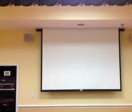 retractable in ceiling projector screen commercial installations ceilings