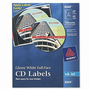 ave8944 avery inkjet full face cd labels zuma With avery glossy stickers