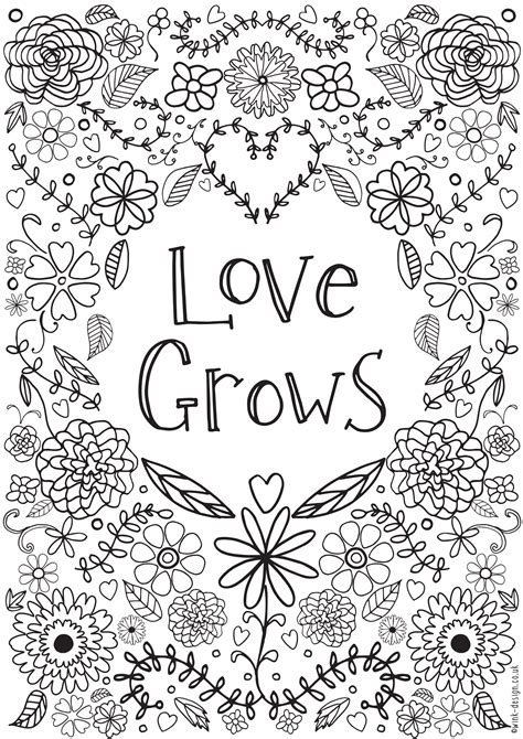 lovegrowscolouring adult coloring  printable