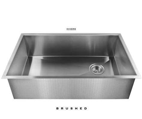 brushed steel kitchen sink heritage stainless steel sink brushed havens metal 4947