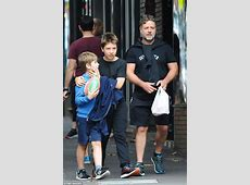 Russell Crowe steps out with lookalike sons in Sydney