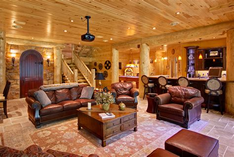 cabin designs plans incorporating indoor entertainment areas into your log home