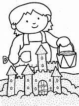 Coloring Sand Castle Sandcastle Kleurplaat Jarvis Landry August Zomer Template Familycorner Strand Sheets Calendar September Disney Corner Staff Hello Peanuts sketch template