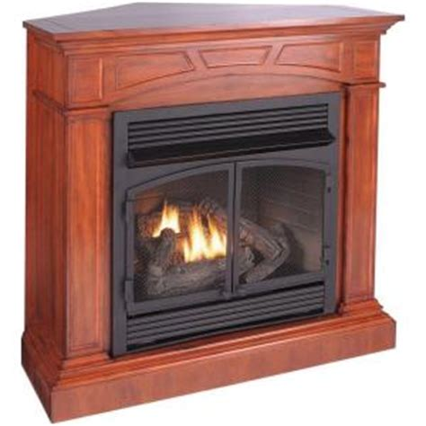 home depot gas fireplace procom 45 in convertible vent free dual fuel gas