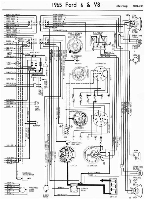 69 Fairlane Windshield Wiper Wire Diagram by Wiring Diagrams Of 1965 Ford 6 And V8 Mustang Part 2