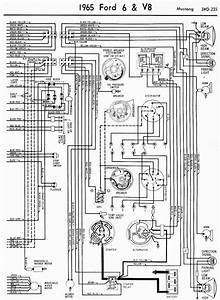 Wiring Diagrams Of 1965 Ford 6 And V8 Mustang Part 2  61021