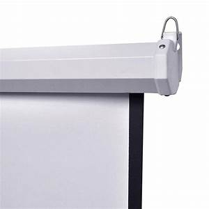 Portable Manual Wall Projection Screen Pull Down Projector
