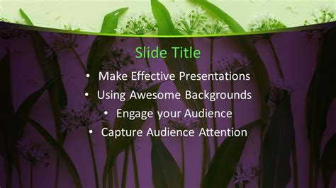 Free Green Leaves PowerPoint Template - Free PowerPoint ...