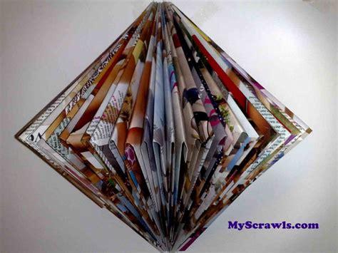 hanging room decor crafts  magazines paper magazine